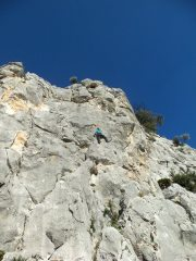 Sunny climbing in Spain while it snows in UK