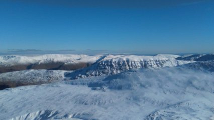 Ingleborough from the top of Helvellyn