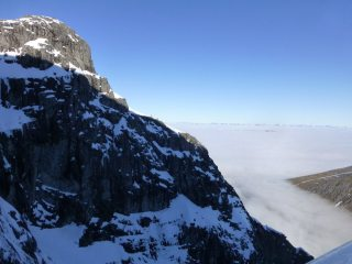 Tower Ridge above the clouds