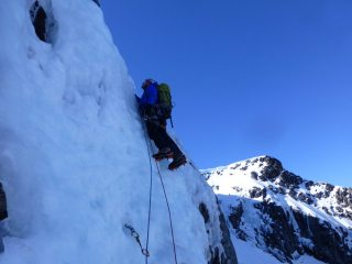 Andy setting out on the second pitch