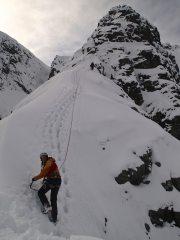 Climbers on Tower Ridge