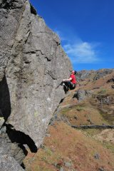 Craig Matheson on the first ascent of Mr Cuddles