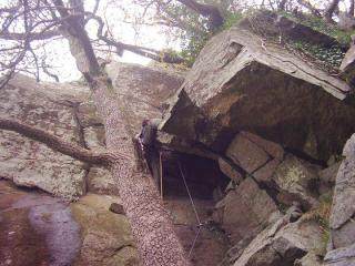 Martin leading the second pitch of Oberon
