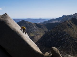An exercise of friction. The Rosetta Stone on the Rossa Pinnacle, Cir Mhor