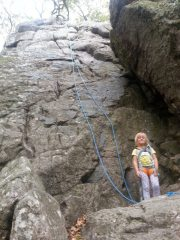 Naya after her first ever outdoor climb and shes only 4!