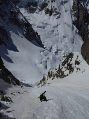 Ascending to the Breche Puiseux from the Periades glacier. , 105 kb