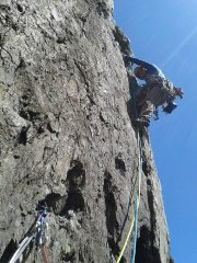 Cruising the second pitch of Cemtery Gates in the sunshine. Girls' day out :)