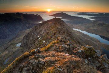 A Snowdonia Spring Dawn from Garnedd Ugain