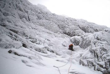 Exiting the basin, Orion Face, Ben Nevis