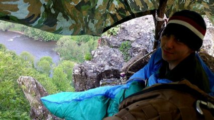 Got benighted on the pinnical and forced to bivvy.
