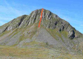 Sgurr na Sgine East Face, line of Central