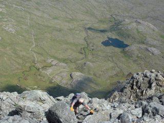 Half way up Pinnacle Ridge, Sgurr nan Gillean, Skye - June 2016, 217 kb