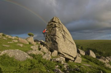 Will Hornby at Combeshead Tor