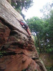 Beginning the upper slab on Free and Easy, Armathwaite