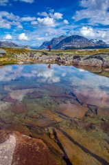 Reflections in the mountains behind Narvik, 186 kb