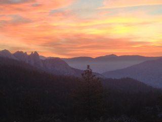 Misty sunrise on The Needles, CA