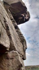 Rock Gymnast / Quietus E2 5c / Stanage North