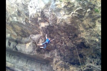 Cutting loose just before the crux!