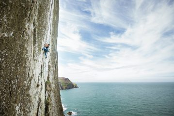 Freja Shannon leading her first E2 and getting a classic tick at the same time., 168 kb