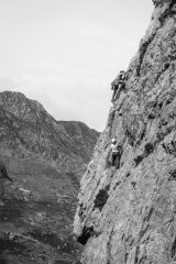 Unknown climbers in a great position on Crackstone Rib, 119 kb