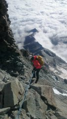 Jamie Owen abseiling off the Matterhorn with Autism At Height