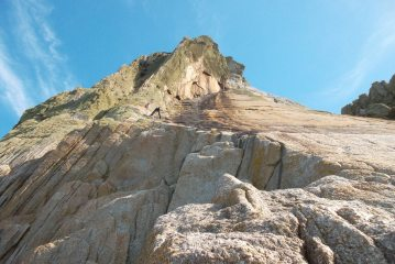 Climbers on Albion, Lundy