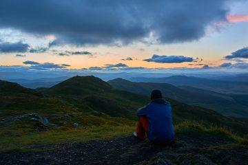 Waiting for the sunrise on Ben Vrckie