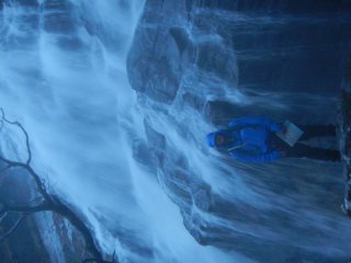 Crossing under Steal falls as we were starting the Ring of Steal, Glen nevis., 111 kb