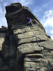 Rock Gymnast / Jeepers Creepers HVS 5b / Stanage North