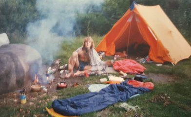 Font '88, the old style of camping.