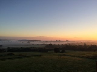 Autumn dawn over the Thames valley