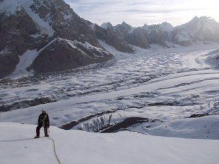 Kaindy Glacier, kyrgyzstan