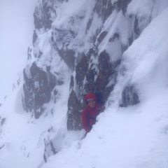 On the technical initial section of Shallow Gully