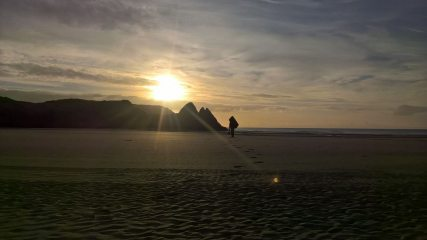 Sunrise on the Gower