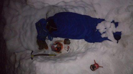 Winter bivvy...16 hrs til morning!