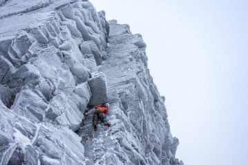 lean conditions on an early season ascent