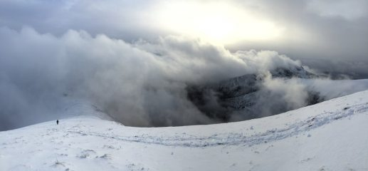 Mike bimbling on a Welsh ridge