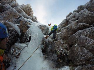 We found ice in Coire an Lochain!