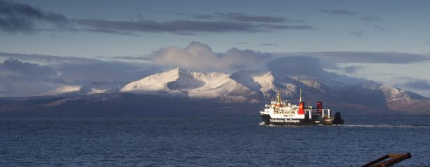 Sh*t - missed the ferry! (Goatfell on the Isle of Arran from Ardrossan)