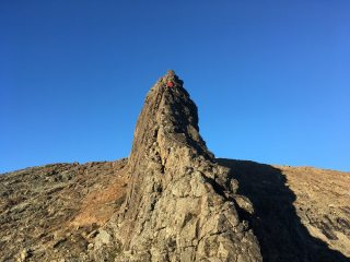 First stance on the Inaccessible Pinnacle.