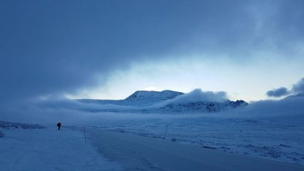 A break in the clouds over Valdresflya