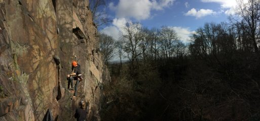 Rich on Holy Ghost 6b+, hangingstone quary