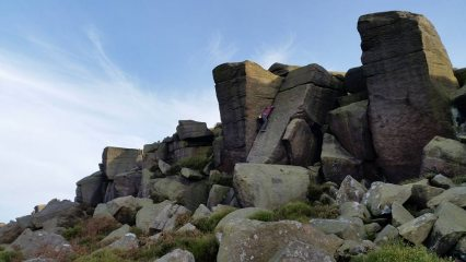 Burbage South - Roof route VS 4c