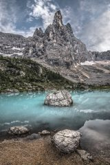 Lago di Sorapiss and Dito di Dio (Finger of God), 168 kb