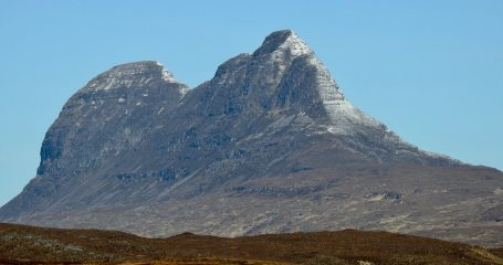 Suilven seen from Ullapool-Inchnadamph road