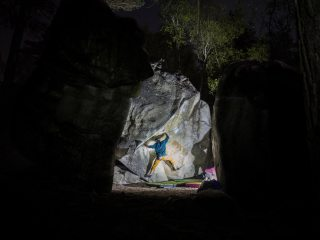 Night time bouldering session