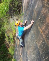 Andrew on the middle section of Rising Sap