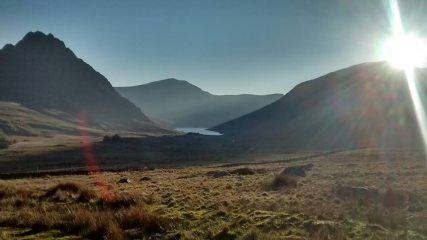 Evening light over Ogwen Valley and Tryfan, taken on the way back down from Craig Yr Ysfa