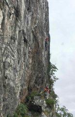 Climber on Inbred, Creag Dubh (2017-06-30)