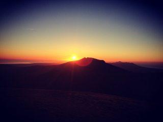 Sunset from wild camp on Nantille Ridge